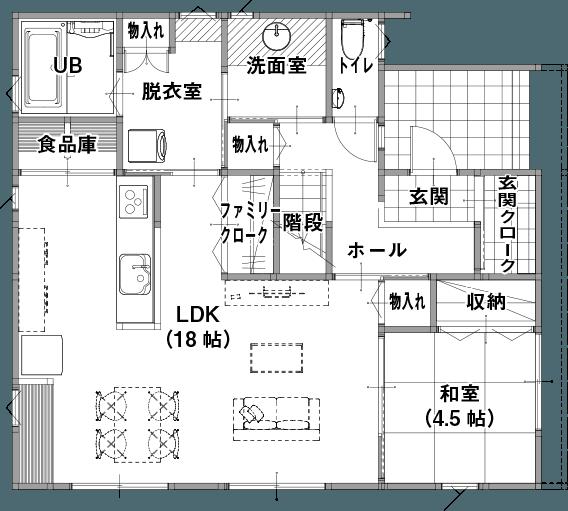 強くて暖かい「新GRANDE」(長岡市、柏崎市)の参考プラン 1F