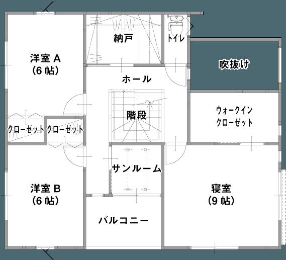 強くて暖かい「新GRANDE」(長岡市、柏崎市)の参考プラン 2F