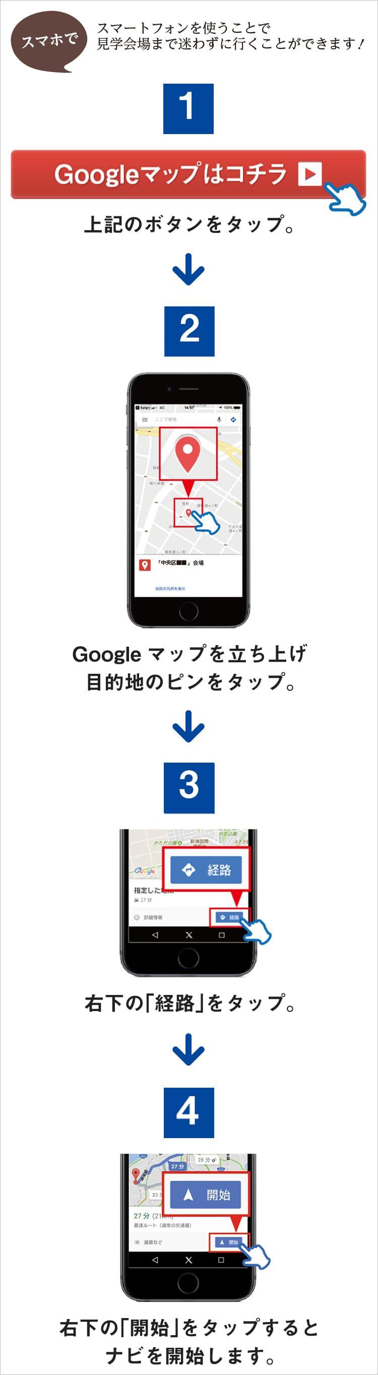 googleマップナビゲーション説明