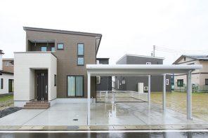 ワンちゃんと暮らすナチュラルハウス・造作洗面台のある家 ハーバーハウス長岡支店