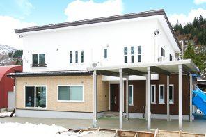 雪国でも安心の設備搭載、玄関共用型の二世帯住宅 ハーバーハウス長岡支店